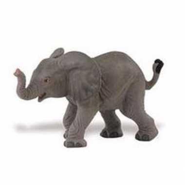 Plastic afrikaanse olifant kalfje 8 cm