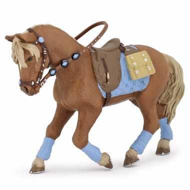 Plastic jonge ruiter paard 12 cm