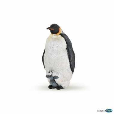Plastic keizer pinguin 4 cm