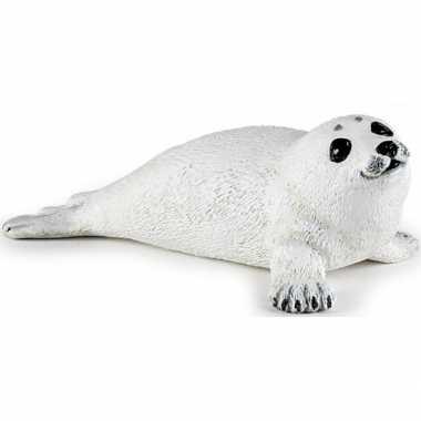 Plastic liggende zeehond pup 8 cm
