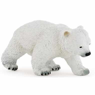 Plastic lopend ijsbeer welpje 8 cm