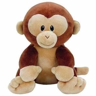 Pluche bruine baby chimpansee aap/apen knuffel 17 cm
