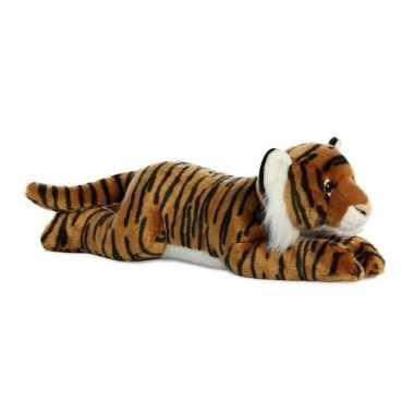 Pluche bruine bengaalse tijger knuffel 70 cm speelgoed