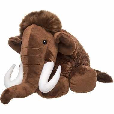 Pluche bruine mammoet knuffel 40 cm baby speelgoed