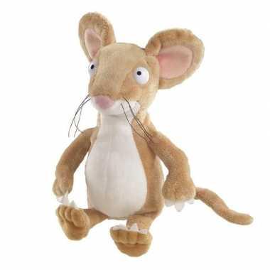 Pluche bruine muis muizen knuffel 23 cm speelgoed