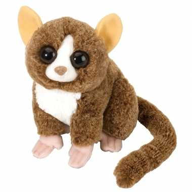 Pluche bruine spookdiertje/muismaki knuffel 25 cm speelgoed