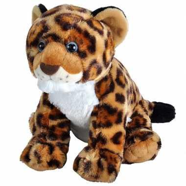 Pluche gevlekte luipaard/jaguar welpje knuffel 35 cm speelgoed