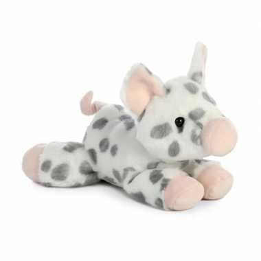 Pluche gevlekte varken/big knuffel 20 cm speelgoed
