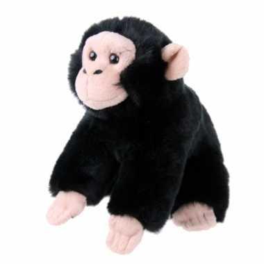 Pluche knuffel baby chimpansee 18 cm