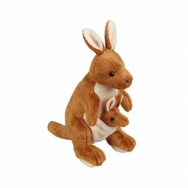 Pluche knuffel kangoeroe 28 cm