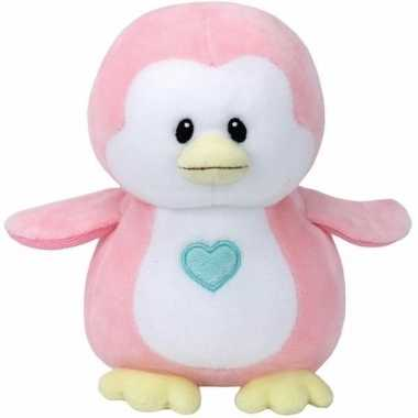 Pluche knuffel roze pinguin ty beanie/baby penny 24 cm