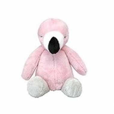 Pluche roze flamingo vogel knuffel 28 cm baby speelgoed