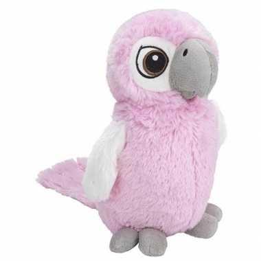 Pluche roze kaketoe vogel knuffel 27 cm baby speelgoed