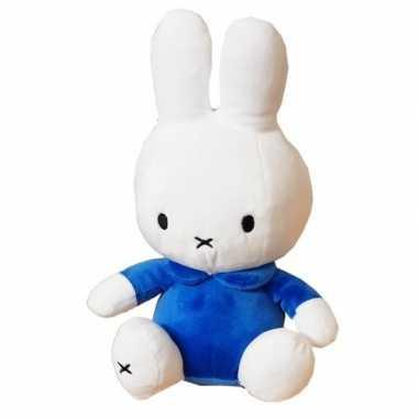 Pluche wit/blauwe nijntje knuffel 25 cm baby speelgoed