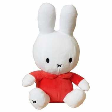 Pluche wit/oranje nijntje knuffel 25 cm baby speelgoed