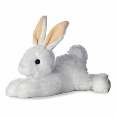 Pluche witte konijn/haas knuffel 30 cm speelgoed