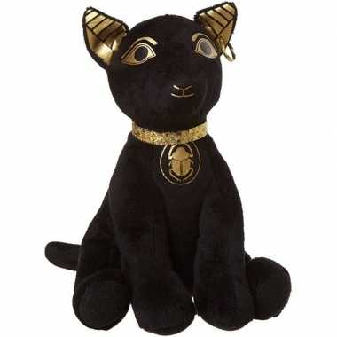Pluche zwarte bastet kat/poes knuffel 20 cm baby speelgoed