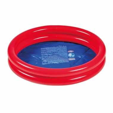 Rood/blauw rond opblaasbaar baby zwembad 60 cm