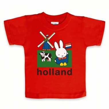 Rood nijntje baby t-shirt holland