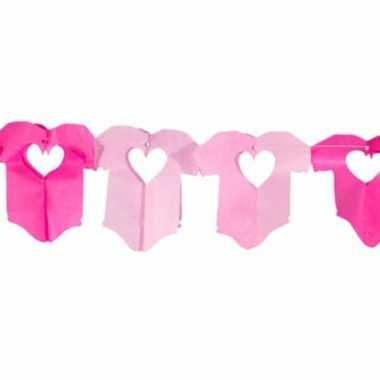 Roze baby slinger met rompertjes