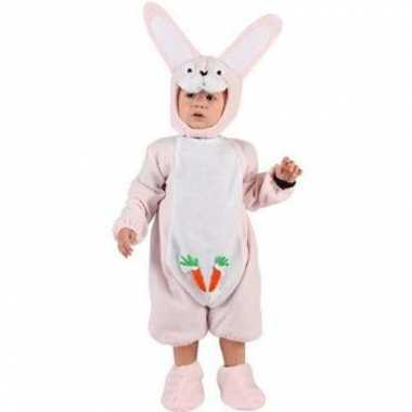 Roze konijn baby kostuum