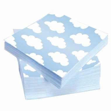 Servetten wolken geboorte jongen 20 stuks