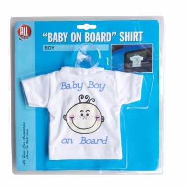 T-shirt baby on board jongen voor in de auto