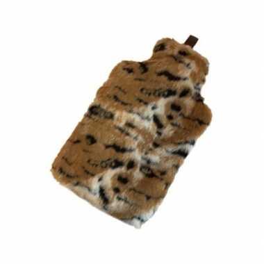 Warm water kruik met tijger hoes