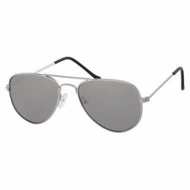 Zilveren baby/peuter piloten zonnebril