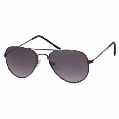 Zwarte baby/peuter piloten zonnebril