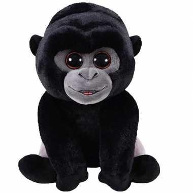 Zwarte pluche baby gorilla aap/apen knuffel 15 cm