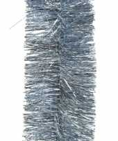 1x lichtblauwe slingers lametta kerstboom guirlandes 270 x 7cm