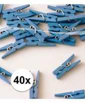 40 mini knijpers blauw