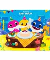6x stuks placemats voor kinderen baby shark 43 x 28 cm
