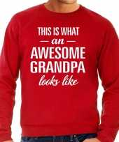 Awesome grandpa opa cadeau sweater rood heren