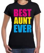 Best aunt ever beste tante ooit fun t-shirt zwart dames