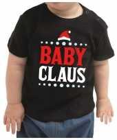 Kerstshirt baby claus zwart baby jongen meisje