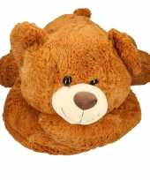 Mega pluche knuffelbeer bruin 120 cm