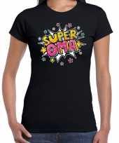 Super oma cadeau t shirt zwart voor dames